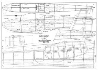 Schweizer 1-26C model airplane plan