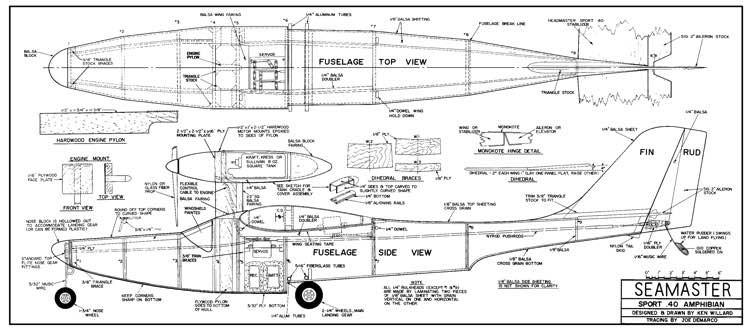 Seamaster model airplane plan