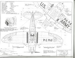 Seversky P-35 model airplane plan