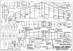 Kyushu J7W1 Shinden model airplane plan
