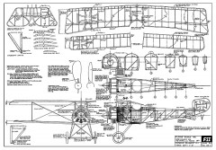 Siemens-Schuckert D-1 model airplane plan