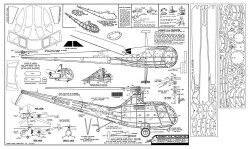 Sikorsky R-6 Helicopter model airplane plan