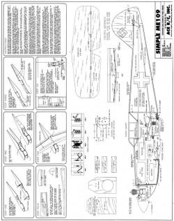 Simple Me-109 model airplane plan