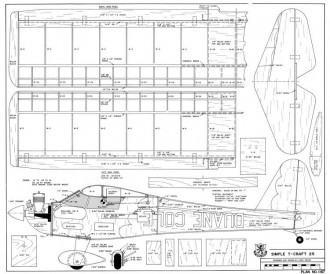 Simple T-Craft 25 model airplane plan