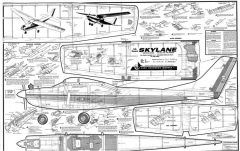 1/2A Cessna Skylane model airplane plan