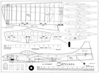 Skylark model airplane plan