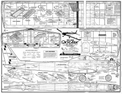 Skylark (Single Engine) model airplane plan