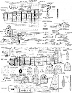 Skyraider model airplane plan