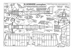Sommer Monoplane model airplane plan