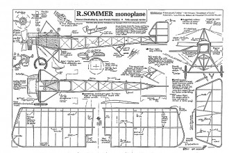 Sommer Monoplane peanut model airplane plan