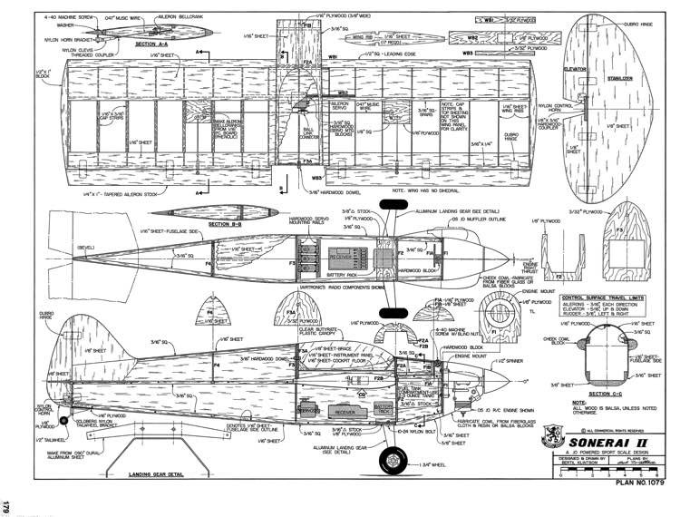 Sonerai II-RCM-11-90 model airplane plan