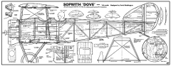 Sopwith Dove RC model airplane plan