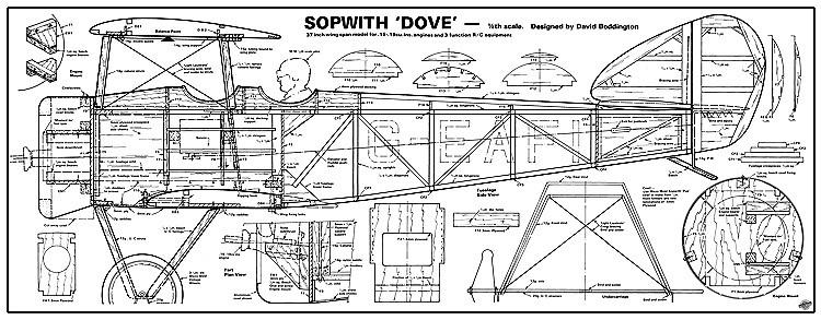Sopwith Dove model airplane plan