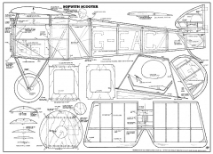 Sopwith Scooter 51in model airplane plan