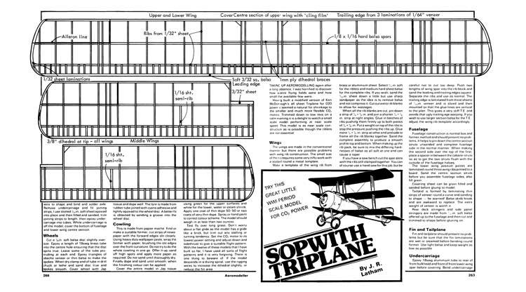 Sopwith Triplane 2 model airplane plan