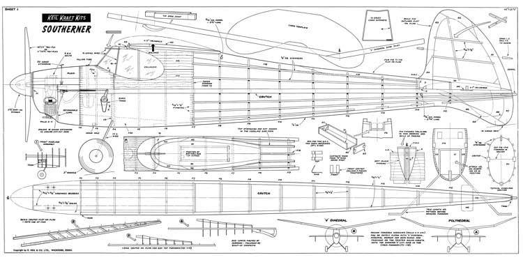 Southerner 60 kk model airplane plan