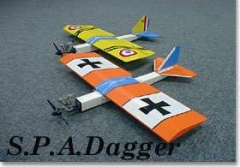 Spad Dagger model airplane plan