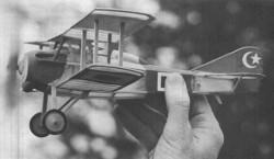 Spad XIII model airplane plan