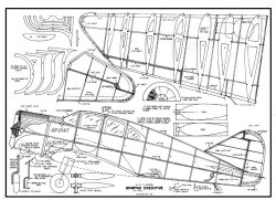 Spartan Executive model airplane plan