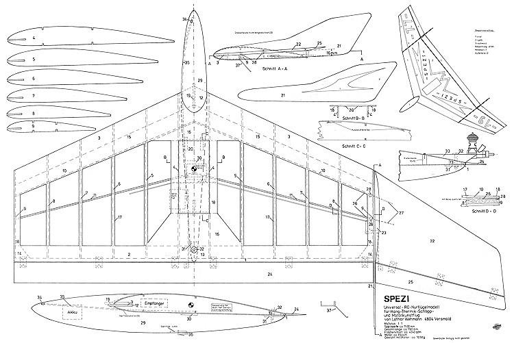 Spezi Delta model airplane plan