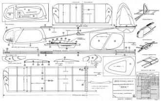 Spin glider model airplane plan