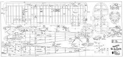 Spirit of St Louis 80in model airplane plan