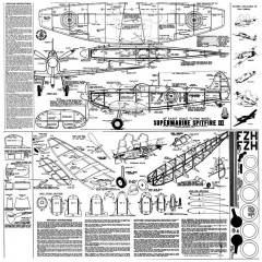 Spitfire III model airplane plan