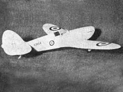 Spitfire I model airplane plan