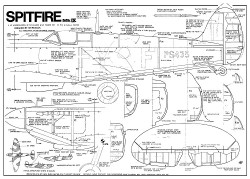 Spitfire IX 48in model airplane plan
