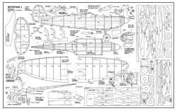 Spitfire Mk I model airplane plan