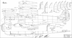 Spitfire MKI model airplane plan