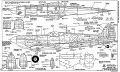 Spitfire Mk I model airplane plan