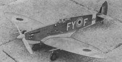 Spitfire Mk IX model airplane plan