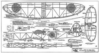 Spitfire P-30 model airplane plan