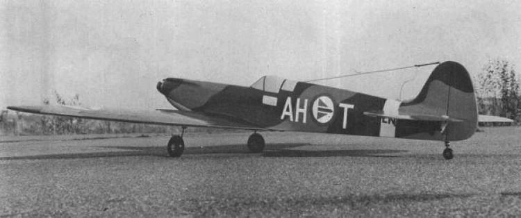 Spitfire model airplane plan