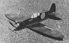 Spitfire model airplane plan