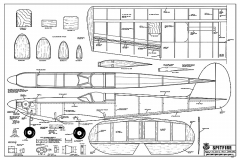 Spitfire Sport RCM-400 model airplane plan