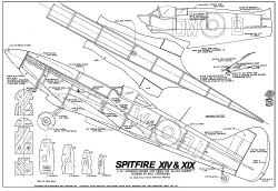 Spitfire XIV and XIX model airplane plan