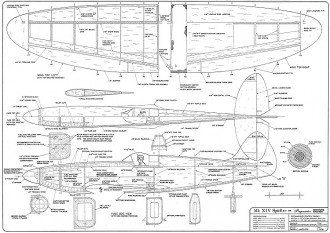 Spitfire XIV model airplane plan