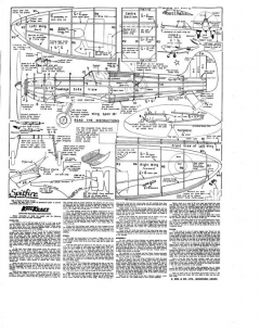 Spitfire Mk II model airplane plan