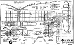 "Spook 48"" model airplane plan"