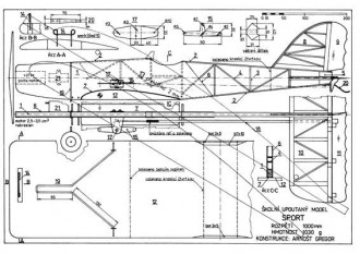 Sport model airplane plan