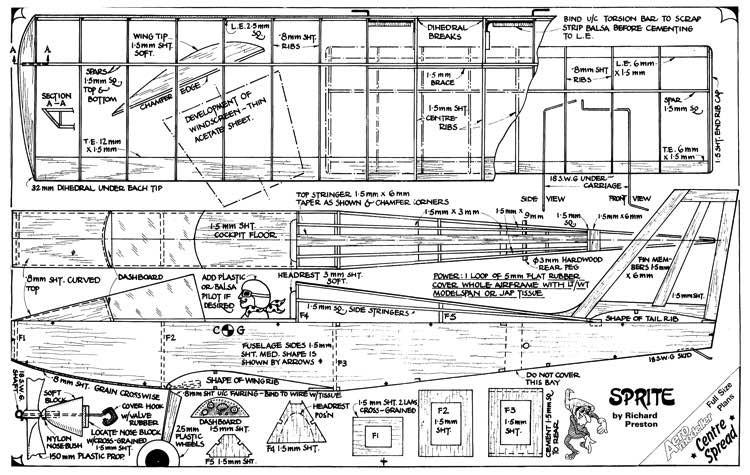 Sprite model airplane plan