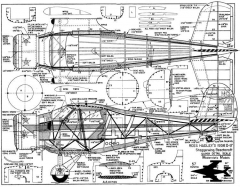 Staggerwing model airplane plan