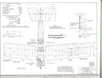 Standard J-1 model airplane plan
