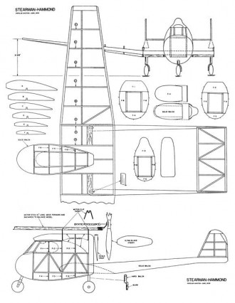 Stearman-Hammond model airplane plan