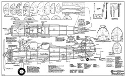 RCM Stearman 200cm Span model airplane plan