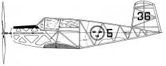 Stick Profile model airplane plan