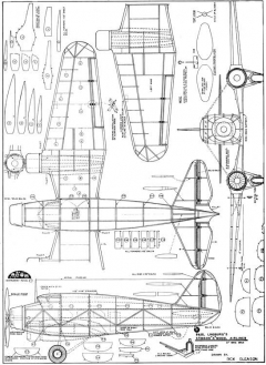 Stinson A Trimotor model airplane plan