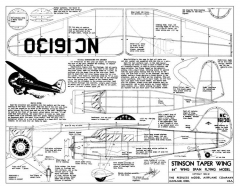 Stinson SR-7 model airplane plan